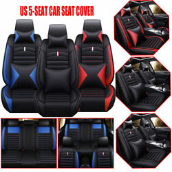 11pcs Us Top Luxury Car Seat Cover 5-seat Covers Cushions W/pillow For 2016-2019