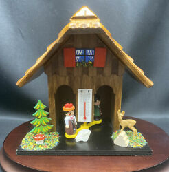 Exclusive Black Forest Chalet House German Weather House Wooden Handmade