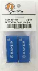 Fox Valley Models 891004 N Hanjin 20' Corrugated Container Pack Of 2