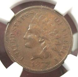 1877 Indian Head Cent Ngc Xf40bn Key Date [001]