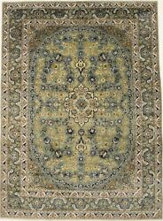Sage Green Floral Traditional 10x13 One Of A Kind Oriental Rug Home Decor Carpet