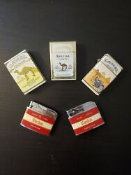 Lot Of 5 Vintage Rare Old Collectible Lighters. Winston And Camel.andnbsp