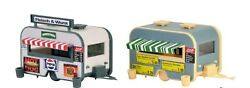 Ho Scale Vollmer 45144 Fast Food Vendor / Concession Sales Two Trailers Kit