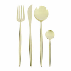 Cutipol Moon Cutlery Set - 24 Piece - Champagne Dinner Set Stainless Steel