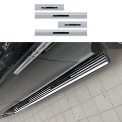 For Lincoln Navigator 2018-2021 Silver Running Board Side Pedals Foot Pedal 4pcs