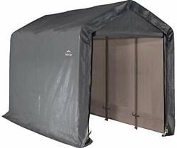 6and039 X 12and039 X 8and039 Shed-in-a-box All Season Steel Metal Peak Roof Outdoor Storage She