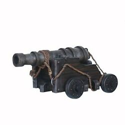 27 Life Size Realistic Black Pirate Cannon Resin Statue Prop Display Figurine