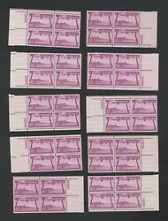 Hawaii Airmail Postage Stamps Cat. C46 80andcent 40 Superb Nh Pl. Blk Of 4