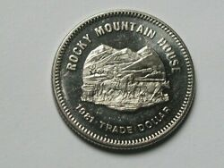 Rocky Mountain House Ab Canada 1981 Trade Dollar Token With Cowboy Cattle Drive
