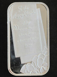 2009 Silver Towne Anniversary To The Happy Couple Silver Art Bar Lot P1609