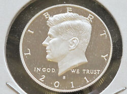 2011-s Kennedy Half Dollar 90 Silver Dcam Proof U.s. Coin D4977