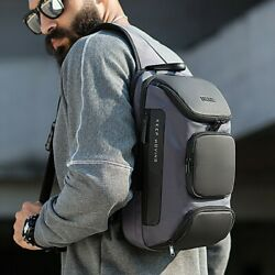 Men#x27;s Anti theft Chest Sling Bag Crossbody Shoulder Bags Casual Daypack Backpack $35.99