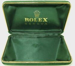 .rare C1950s Rolex Coffin Shaped Silk And Felt Lined Mens Storage / Display Case