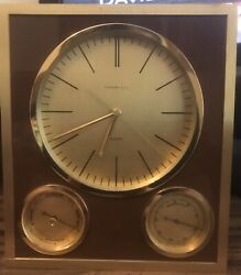 And Co. Clock Barometer Thermometer Vintage