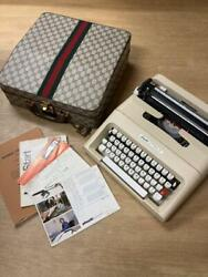 Olivetti Typewriter Lettera-35 Old Original Case Good Condition A444
