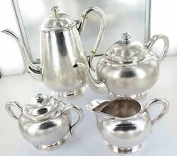 . 1696g Stunning Rare Chinese Tientsin Sterling Silver Export Ware Tea Set