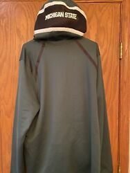 Michigan State Spartans Nike Mens Dri-fit Hoodie Jacket 2xl-t Player Issued Nwot