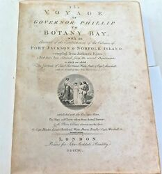 .rare 1790 2nd Edition Andldquothe Voyage Of Governor Phillip To Botany Bayandrdquo Large...
