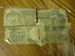 4521 One Pound Bank Note Bank Of England H86 D 729630 Very Damaged