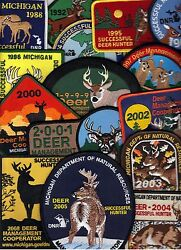 Michigan Dnr Successful Deer Hunter Patches No 08 As Shown 14 Diff 1988-05
