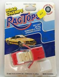 Road Champs Rag Tops Buick Riviera Red Convertible W/ Top Opening Doors Read