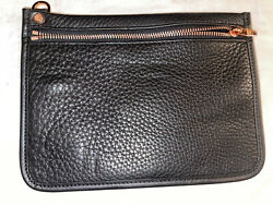 Auth ALEXANDER WANG Black Leather Clutch Bag $25.00
