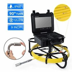 90anddeg Turn Sewer Camera 9 Inch Pipe Dvr Function Hd Monitor Scope Ip68 Portable