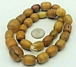 Old Antique 100 Natural Baltic Amber Necklace Yellow Egg Yolk 118 Gramm