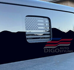 Fits 2020-2021 Jeep Gladiator Back Middle Window American Flag Decal Sticker