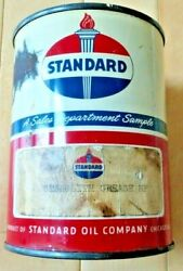 Vintage Original Standard Oil Stanolith Grease Mp 1 Pound Can - Good Condition