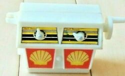 Vintage Original Shell Oil Miniature Gas Pumps W/ Moving Pointers And Bell Sound
