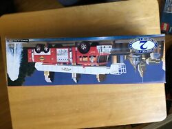 1995 Sunoco Aerial Tower Fire Truck Collectors Edition - Working Headlights -