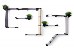 Catastrophicreations Gardens Set For Cats Multiple-level Wall Mounted Scratch And