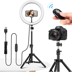 10 Led Professional Ring Light With Tripod For Youtube Tiktok Live Streams
