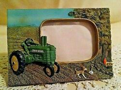John Deere Tractor Frame Picture 3d Relief Tricycle Wheel Farm Country Theme.