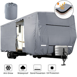 Heavy Duty Travel Trailer Rv Cover Waterproof 4-ply Anti-uv Fits Camper 18and039-38and039