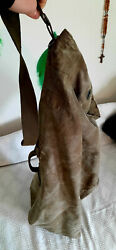 Old Ww2 Ruck Sack Us Army Military Issue 1944 Shoulder Green Canvas Duffle Bag