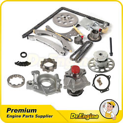 Fit For 2002-2004 Chevrolet Gmc Envoy Buick Timing Chain Oil Water Pump Kit Vvt