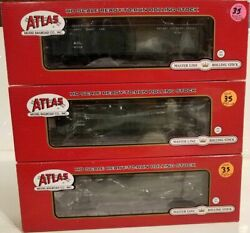 Used Ho Atlas Rtr Acl Rea Acf 3pc Express Reefer Boxcar Set 's 3002, 3015, 3049