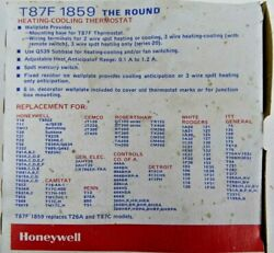 Honeywell T87f1859 The Round Heating-cooling Thermostat