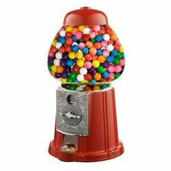 15 Candy Gumball Machine Bank Old Fashioned Metal Glass Ball Bubblegum