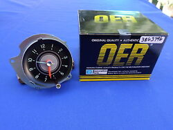 New 1963-65 Chevrolet Chevy Ii Nova Console Clock Oer Parts 3863796 Gm Licensed