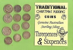C30. Sterling Silver Christmas Pudding Australian Coins