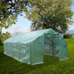 Greenhouse 20'x10'x7' Large Portable Walk-in Hot Green House Plant Gardening