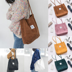 Women Canvas Corduroy Tote Bags Handbag Ladies Travel Messenger Shoulder Bag $9.99