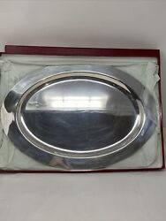 Sterling Silver 18andrdquo Platter Tray 35 Troy Ounce In Original Box