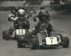 1983 Press Photo Competition Go-karts Racing On City Streets On Temporary Course