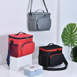 Thermal Insulated Cooler Bag Large Unisex Food Lunch Zip Pack Bento Accessories