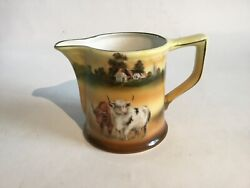 """Antique Early 1900's Royal Bayreuth Cow Creamer / Pitcher H 3"""" Excellent Conditi"""