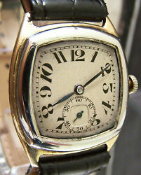 Amazing Antique Vintage 1926 Solid 18k Two Tone Gold Watch ' Screamin Art Deco '